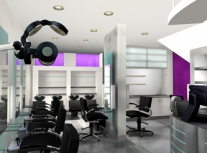 trendy salon design