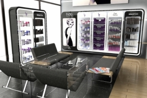 new salon retail design